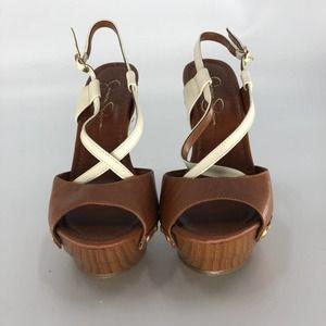 Jessica Simpson Women Laisha Strappy Cone Heels 7
